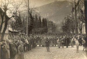 Красная армия в центре Тифлиса. Февраль 1921
