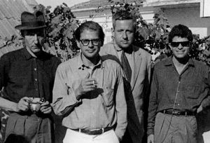 William Burroughs, Allen Ginsberg, Alan Ansen, and Gregory Corso,